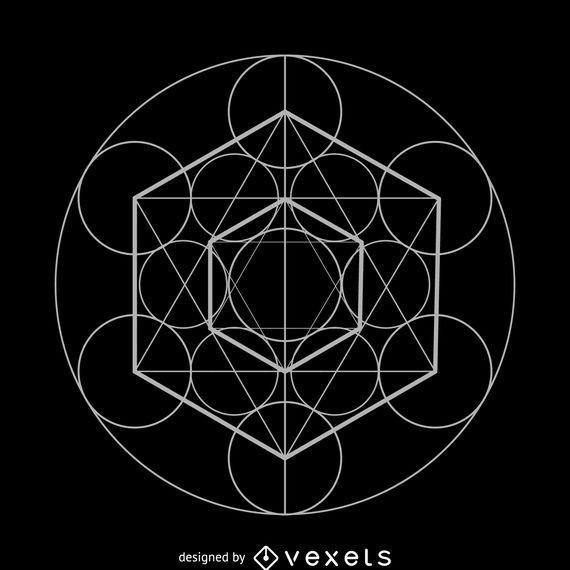 Metatron's cube sacred geometry design