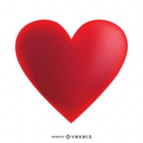 Modelo de logotipo de rótulo de coração 3D