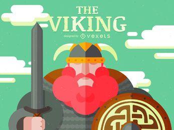 Dibujos animados de carácter vikingo