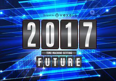 Concepto 2017 signo futuro