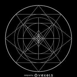 Geometria sagrada complexa circular