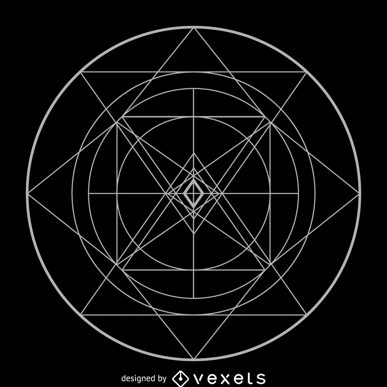 Circular complex sacred geometry