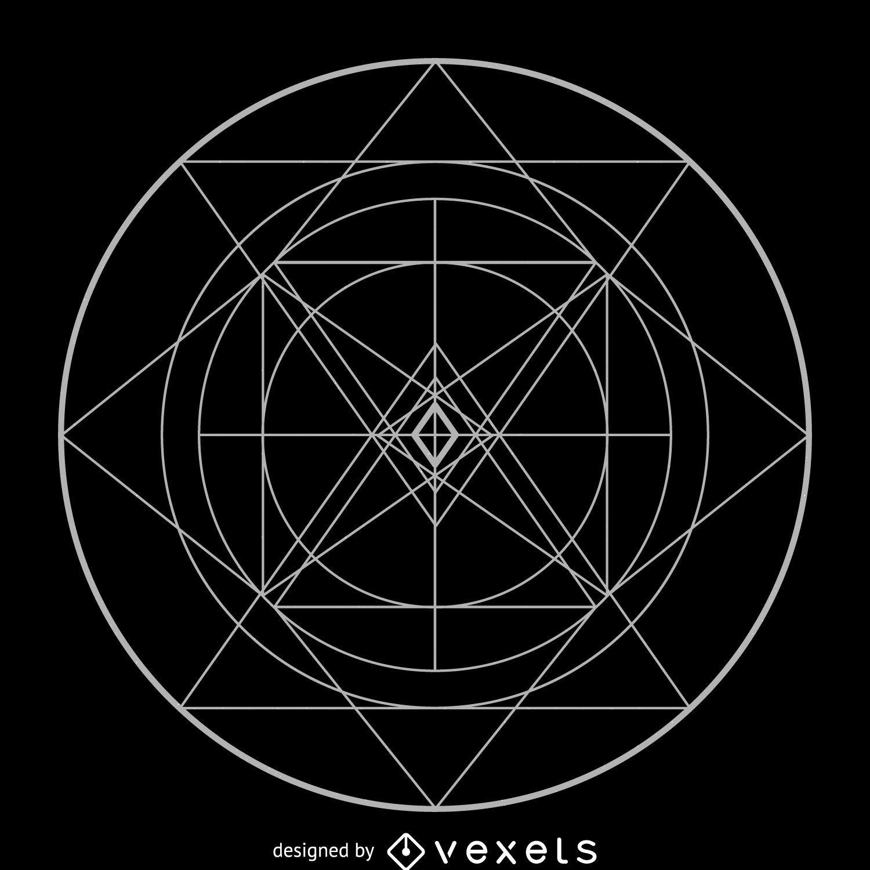 Geometría sagrada compleja circular