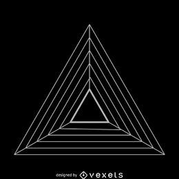 Ilustração de geometria sagrada de triângulos paralelos