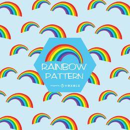 Patrón de arco iris plano