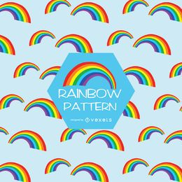 teste padrão do arco-íris plana