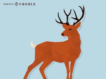 ilustración ciervos poligonal
