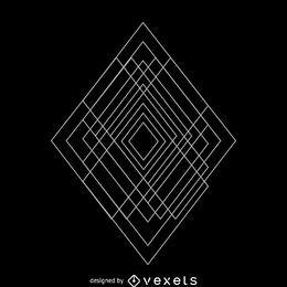 Ilustración de geometría sagrada rombo