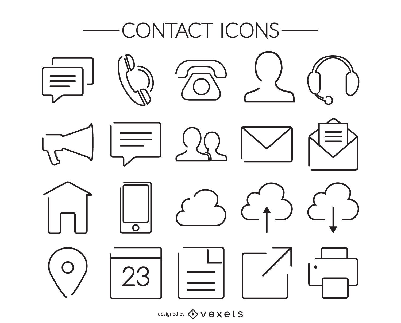 Stroke contact icon collection