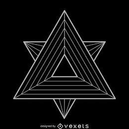 Ilustração de geometria sagrada de triângulos