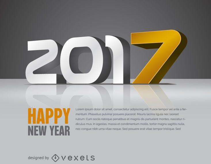 2017 con cartel amarillo