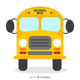 Ilustração de ônibus escolar isolado