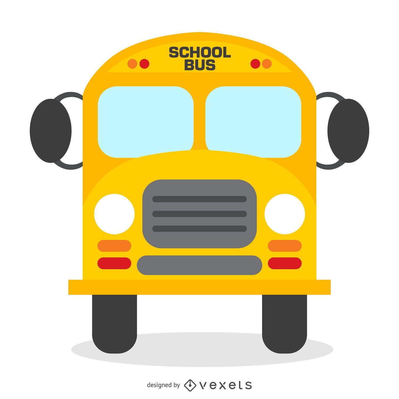 Ilustración de autobús escolar aislado