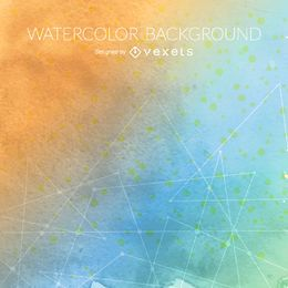 Gradient watercolor background with lines