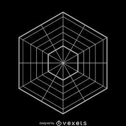 Ilustração de hexágono paralelo