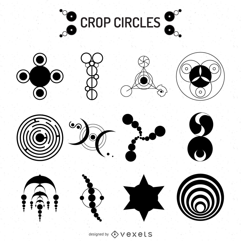 Crop circles illustrations
