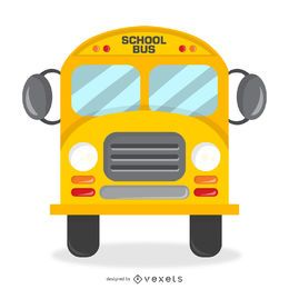 Lokalisiertes Schulbusdesign mit Details