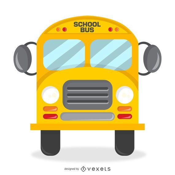 Projeto de ônibus escolar isolado com detalhes