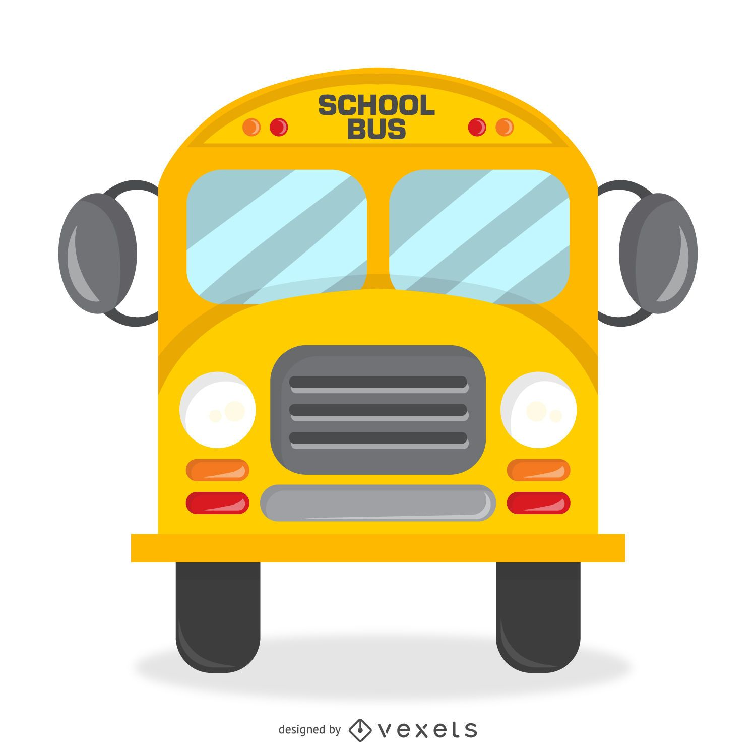Isolated school bus design with details