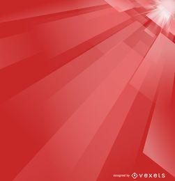 Fondo futurista abstracto de color rojo