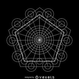 Complex sacred geometry design