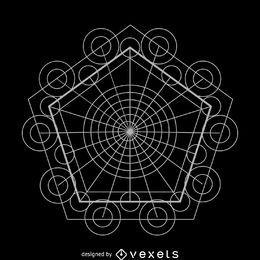 Komplexe Gestaltung der heiligen Geometrie
