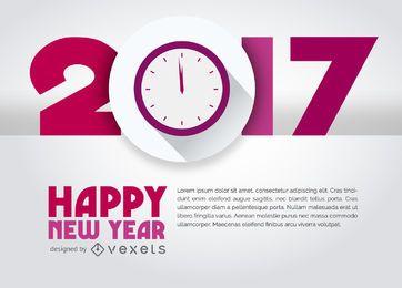 Sinal de 2017 com relógio