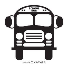 Ícone de ônibus escolar isolado