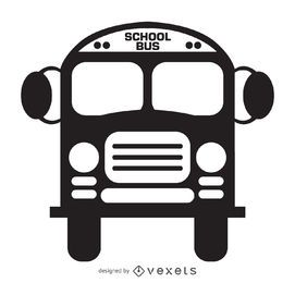 Icono de autobús escolar aislado