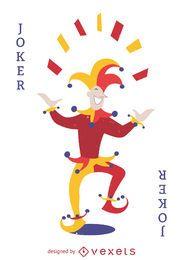 Ilustração do cartão do palhaço