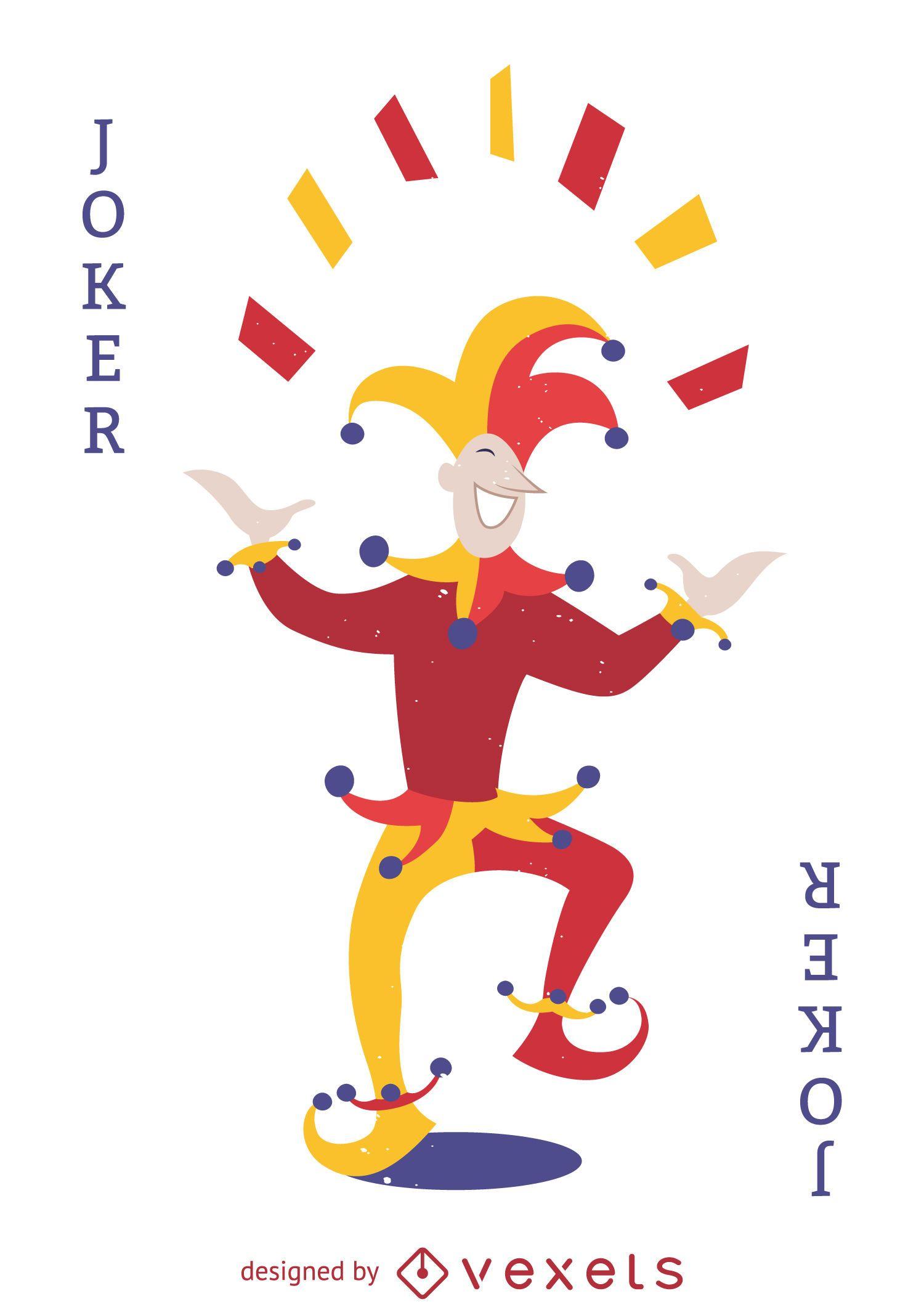 Ilustración de tarjeta de Joker