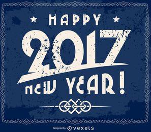 Grunge 2017 Neujahr Zeichen