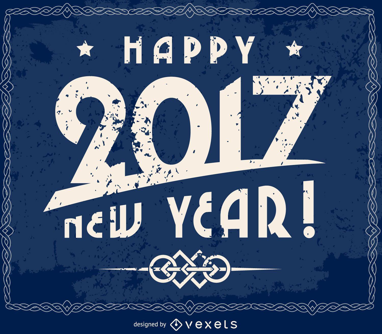 Grunge 2017 New Year sign