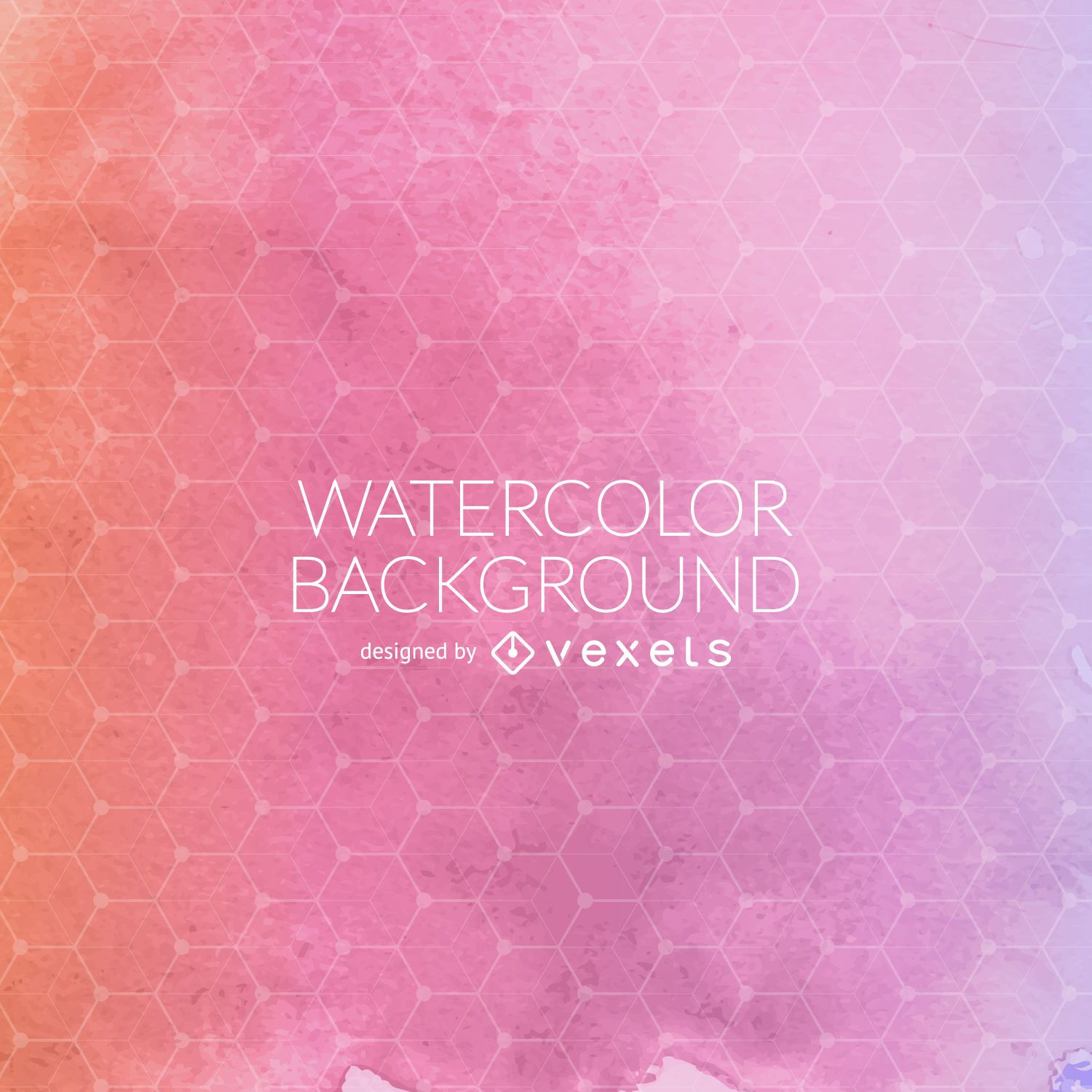 Pink watercolor mesh background