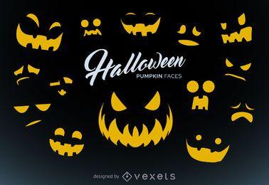 Halloween-Kürbis, der Vorlagen schnitzt
