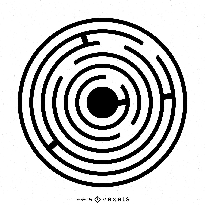 Ilustración de círculo de cultivo de laberinto