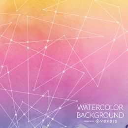 Abstract watercolor background with lines