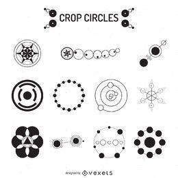 Coleção de ilustração de círculos de colheita
