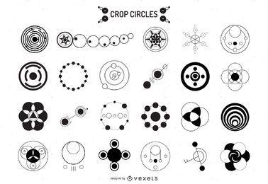 Colección de ilustración de círculos de cosecha