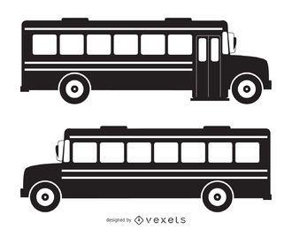 Silueta de autobús escolar aislado