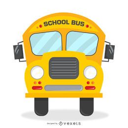 Ilustração de ônibus escolar retrô isolado