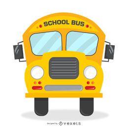 Ilustración aislada autobús escolar retro