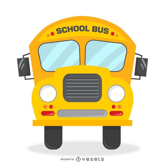 Isolated retro school bus illustration