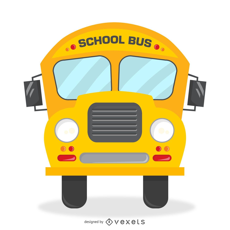 Ilustração de ônibus escolar retrô isolada
