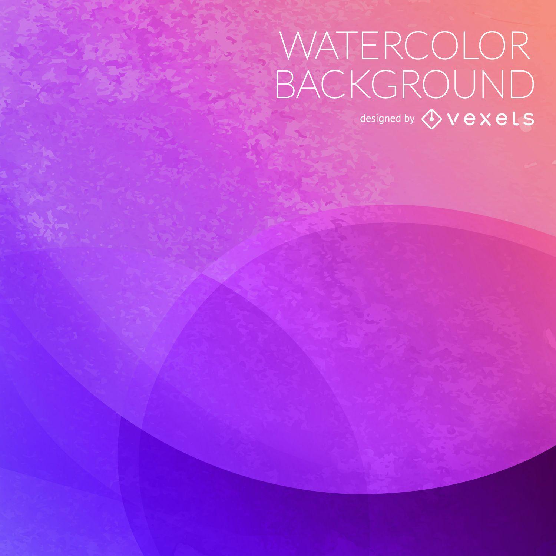 Purple circles watercolor backdrop