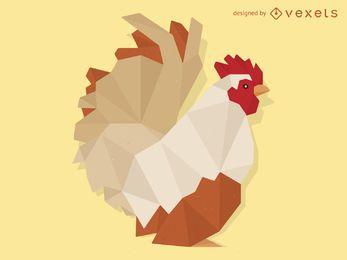 Ilustración de gallo de baja poli