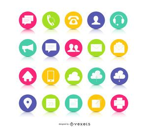 Botones coloridos de contacto con botones