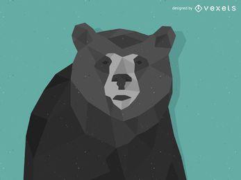 Diseño de oso de baja poli