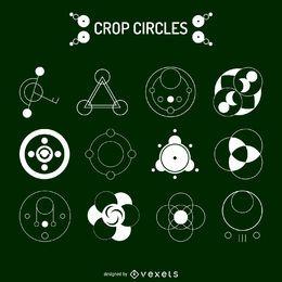 12 desenhos de círculo de colheita
