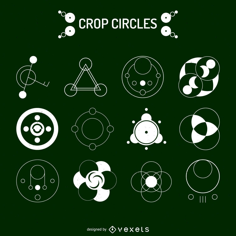 12 crop circle designs vector download